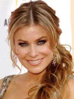 Carmen Electra Loose Side Ponytail Hairstyle 252x336