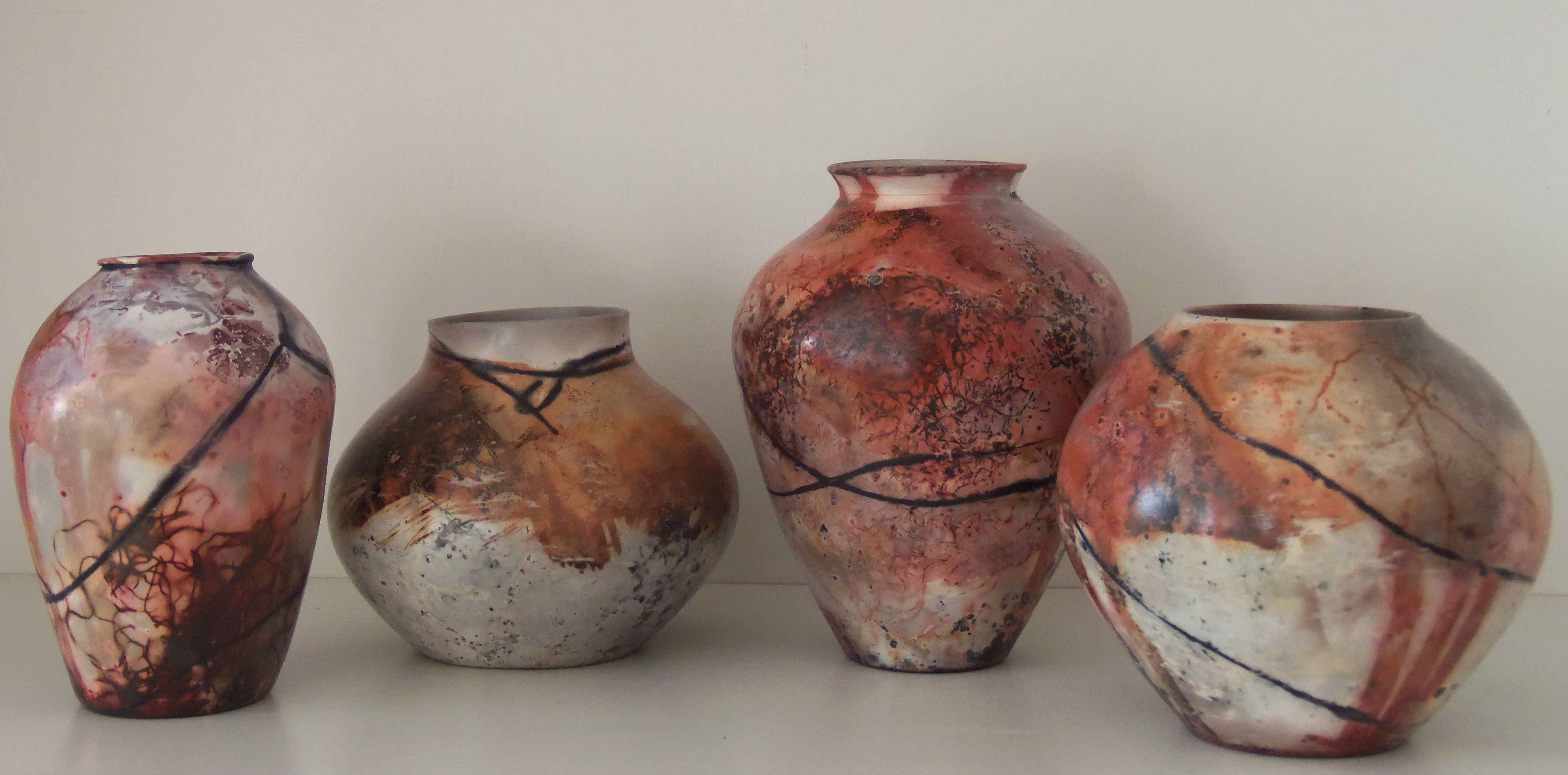 Pit Fired With Metal Salts And Copper Wire Seadrift Gardens Pottery Garden Pottery Pottery Metal Salts