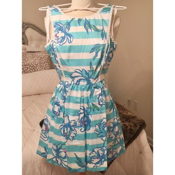 Lilly Pulitzer Sandrine Dress in Shorely Blue Lilly Pulitzer Sandrine Dress in Shorely Blue // Brand New with Tags! This dress is too cute to pass up! & to make it even better, it has pockets! Lilly Pulitzer Dresses Mini