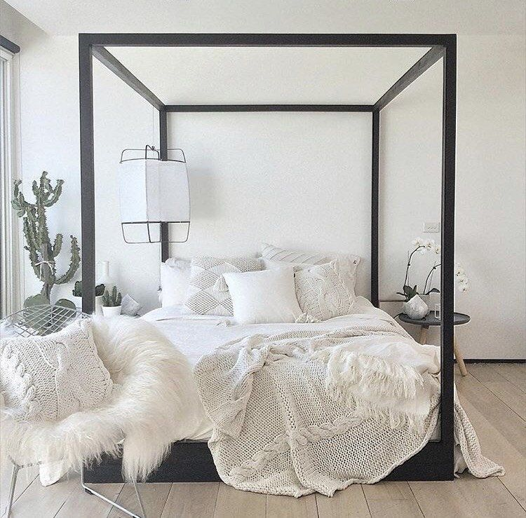 Cubic 4 Poster Bed Black Poster Bed Bed Bedroom Styles