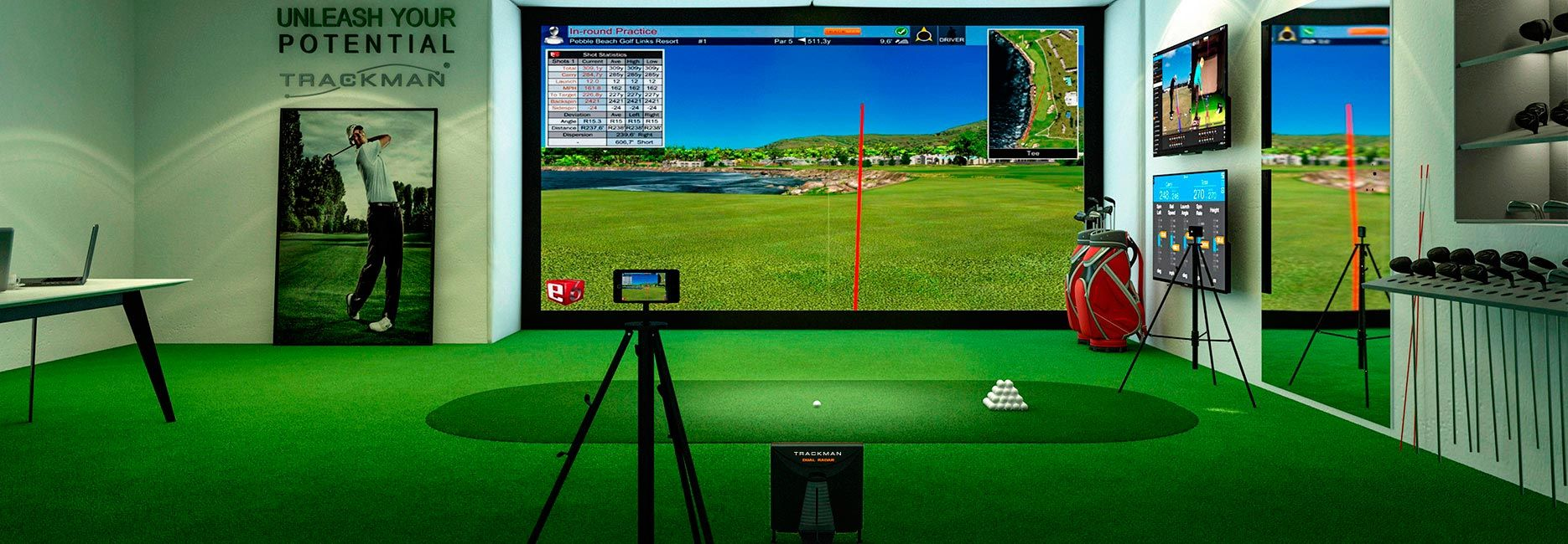 E6Golf software featured on Trackman simulator. https://trugolf ...
