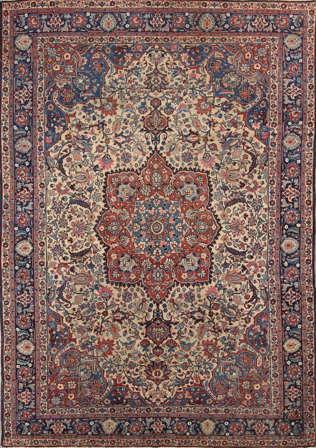 Antique Floral Khoy Tabriz Persian Area Rug 7x10 Persian Area Rugs Rugs On Carpet Persian Carpet