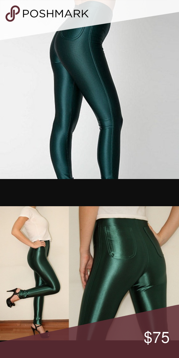 0fc14ae628f06 AA Forest green Disco Pants NWOT New without tags American Apparel Pants  Skinny