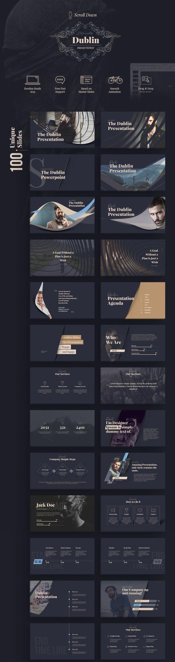100 unique specially designed slides design identity