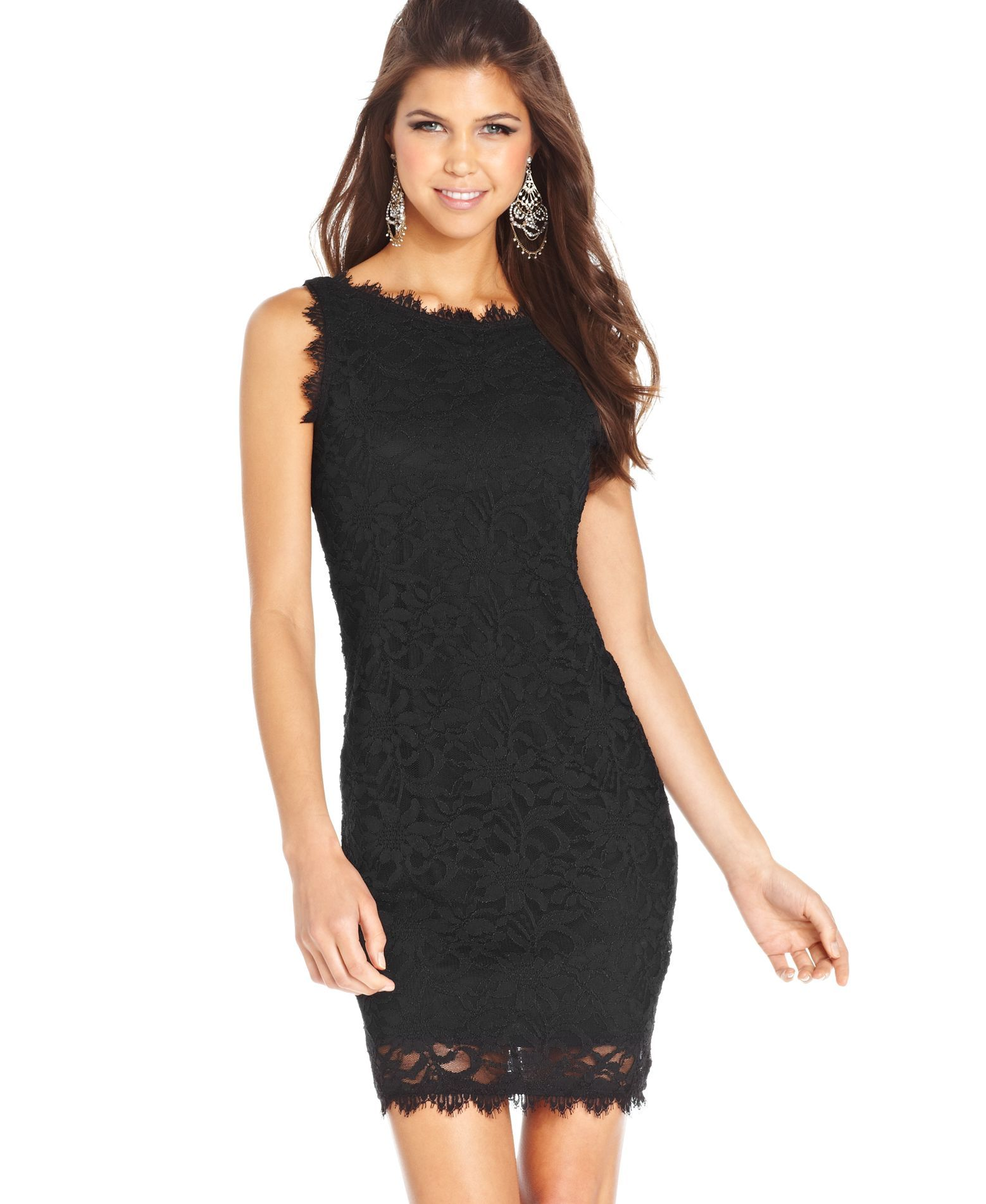 ffc7edb0e Jump Juniors  Sleeveless Lace Dress (Macy s) - goal Get skinny ...
