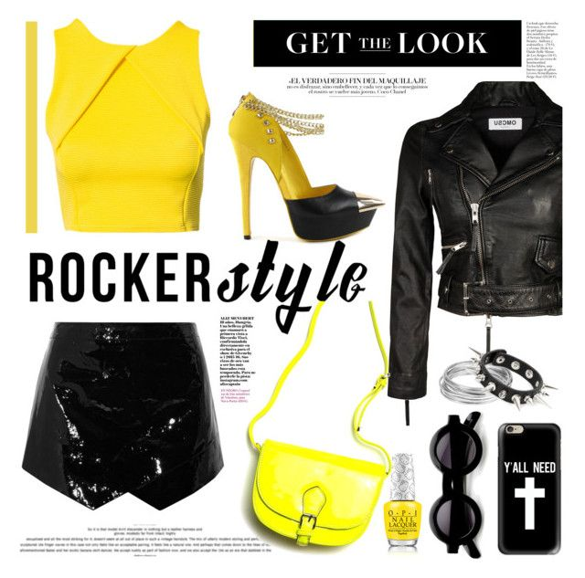 """Rocker style..."" by ornellav ❤ liked on Polyvore featuring Mason by Michelle Mason, Nly Shoes, Casetify, Worthington, rockerchic and rockerstyle"