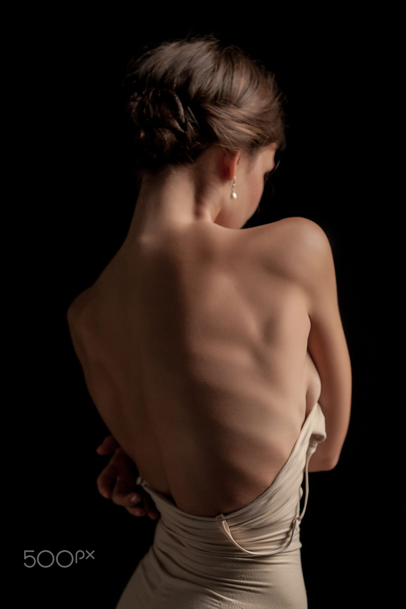 Woman on back