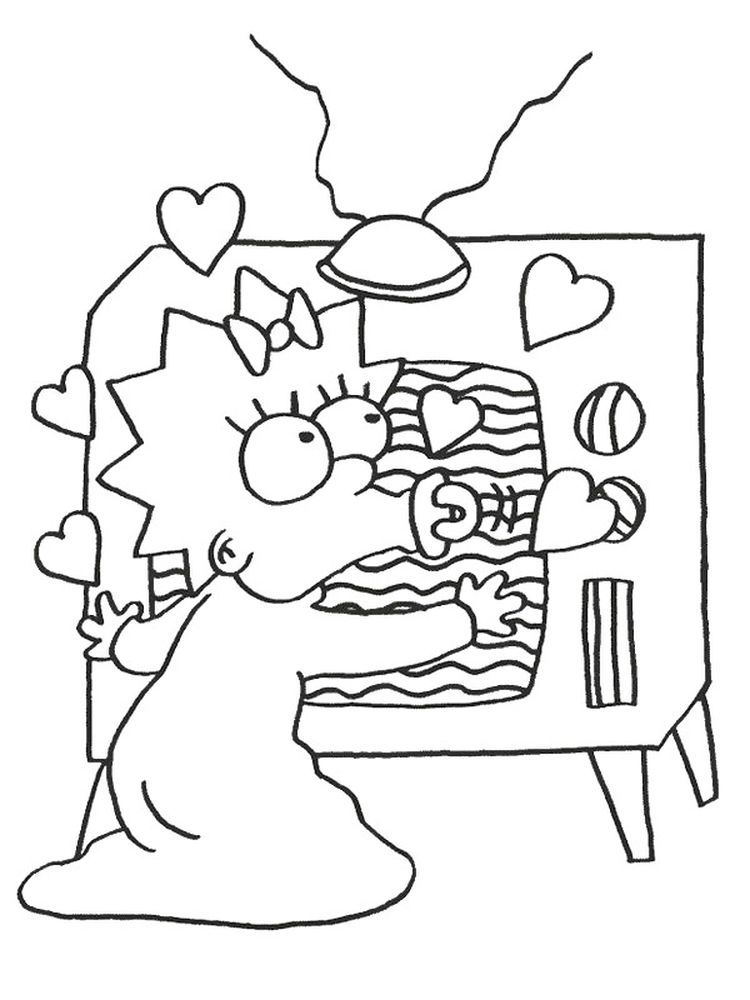 Simpsons Pdf Coloring Pages Cartoon Coloring Pages Coloring Books