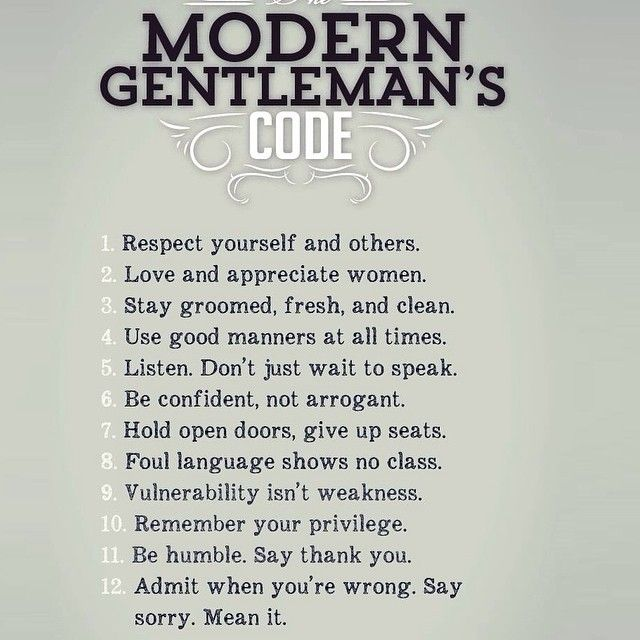 "Real Social Dynamics on Instagram ""modern gentlemen code respect yourself and others love appreciate women stay groomed fresh clean use good manners at all…"" is part of Gentleman quotes - 94 Likes, 4 Comments  Real Social Dynamics (@realsocialdynamics) on Instagram ""modern gentlemen code respect yourself and others love appreciate women stay groomed…"""