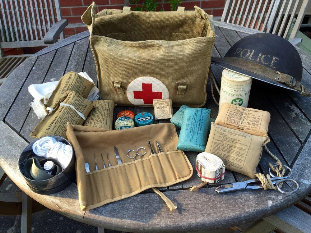 WW2 British Medic Bag Dressing Field | Military | Ww2, Ww2