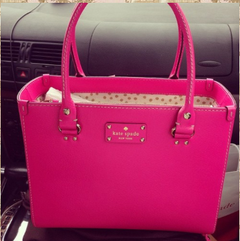 Kate Spade tote bag. Magenta? Fuschia? Something else? | Fuschia ...