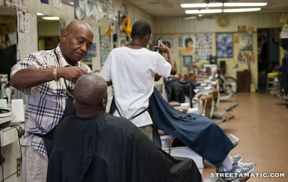 H street barber shop dc street photography national