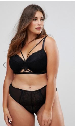 8381ba56665 ASOS CURVE Becca Strappy Lace Moulded Bra affiliate link