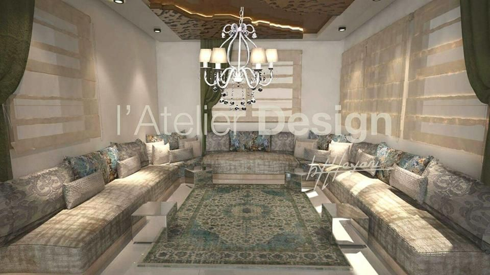 Atelier Design By Hayani Moroccan Living Room Blue Living Room Home Deco