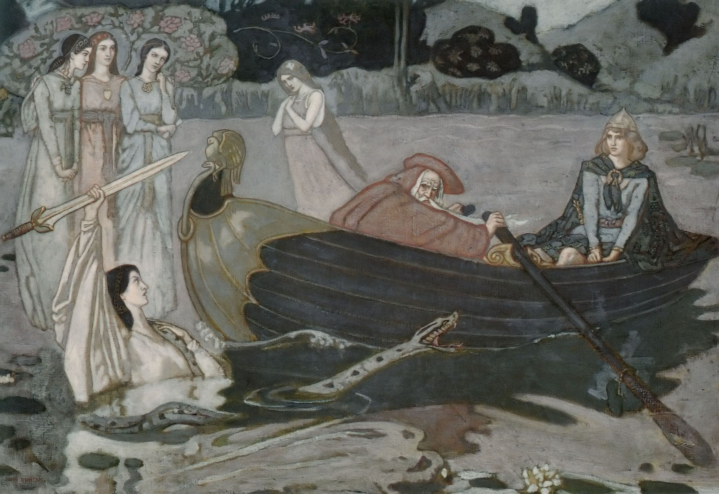 The Taking Of Excalibur by John Duncan | The Athenaeum - The Taking of  Excalibur (John McKirdy Duncan - )