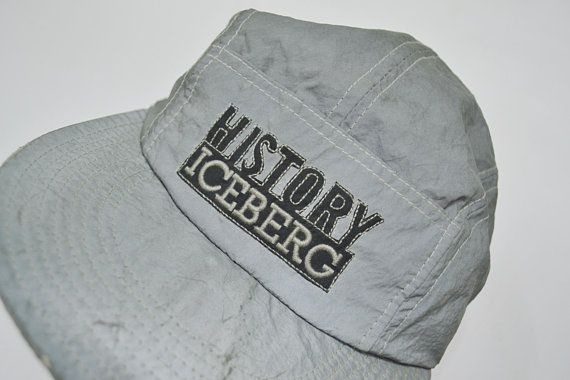 5223c5742ee5c Iceberg History Cap Vintage Iceberg History GILMAR Reflector DISTRESSED Cap  Iceberg Vintage Hat Made in Italy RARE!!!