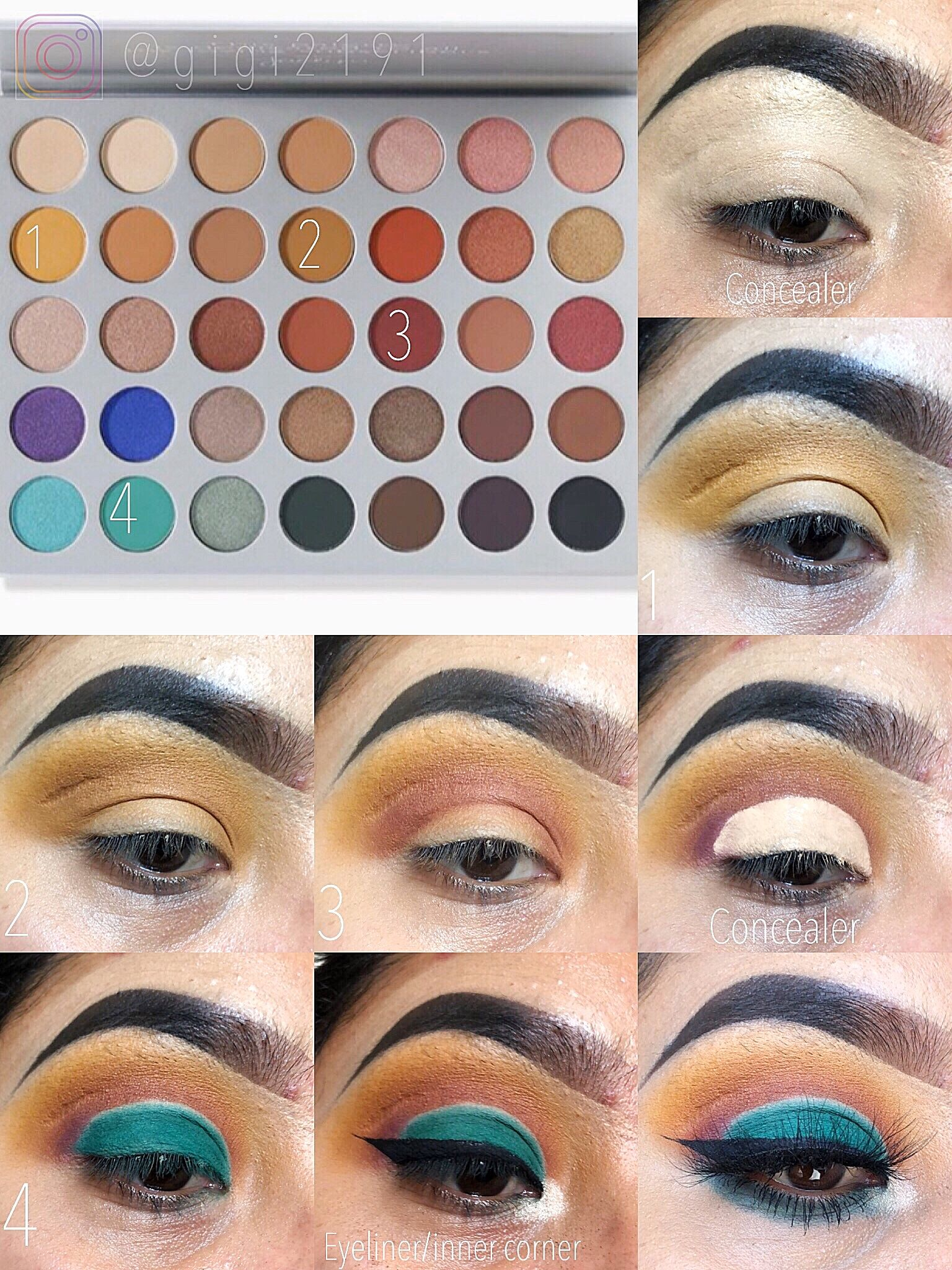 Jaclyn hill palette looks/ step by step makeup by