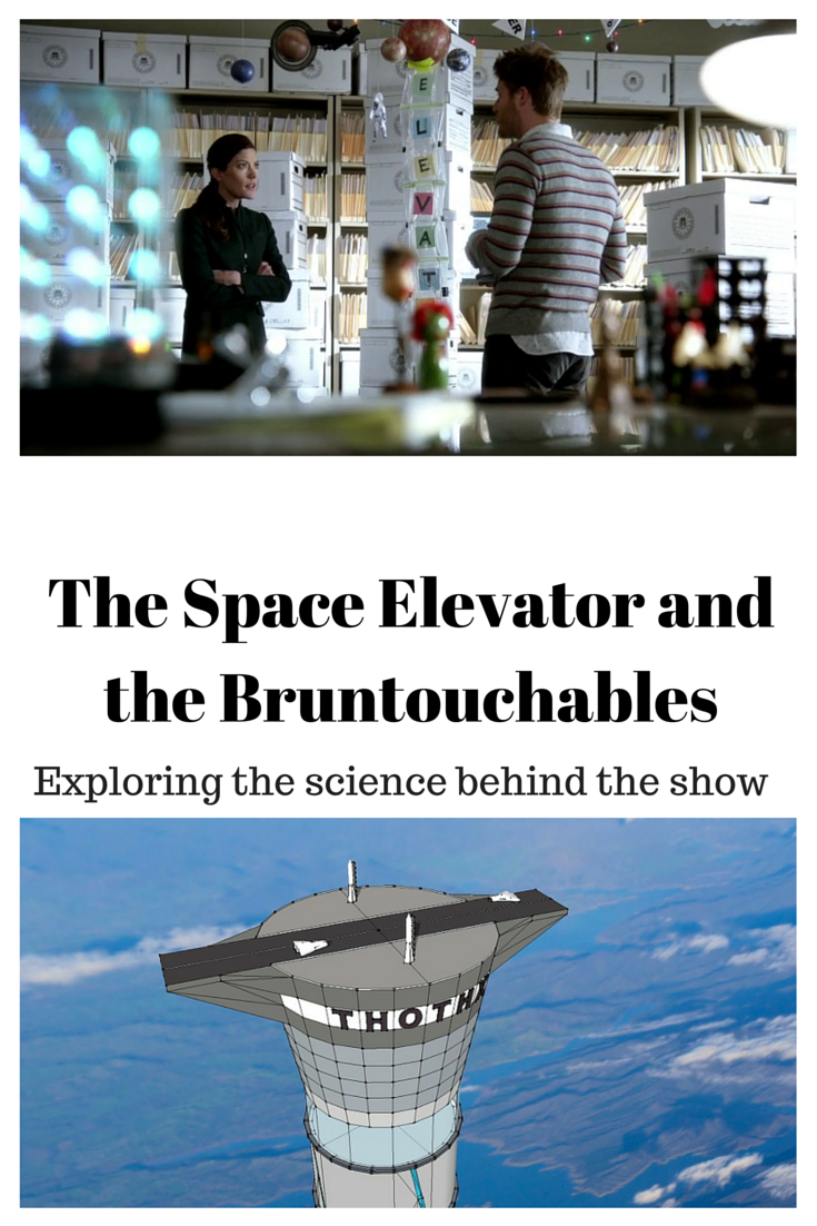 The physics behind the space elevator as see on the TV show, Limitless, and can it really get us into space?