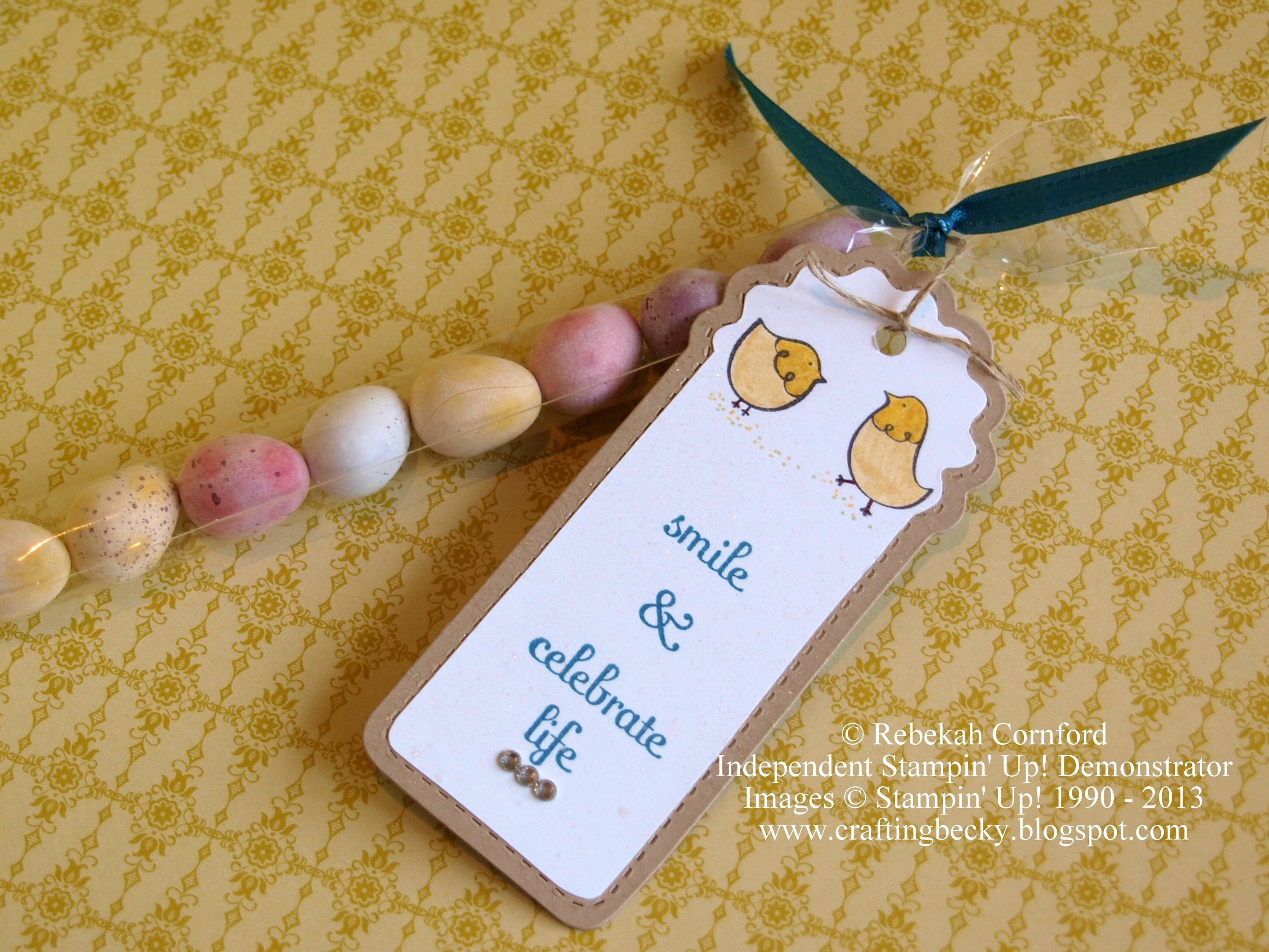 Stampin up easter gift using flock together fabulous phrases stampin up easter gift using flock together fabulous phrases two tags bigz die 1 x 8 cello bags filled with mini eggs negle