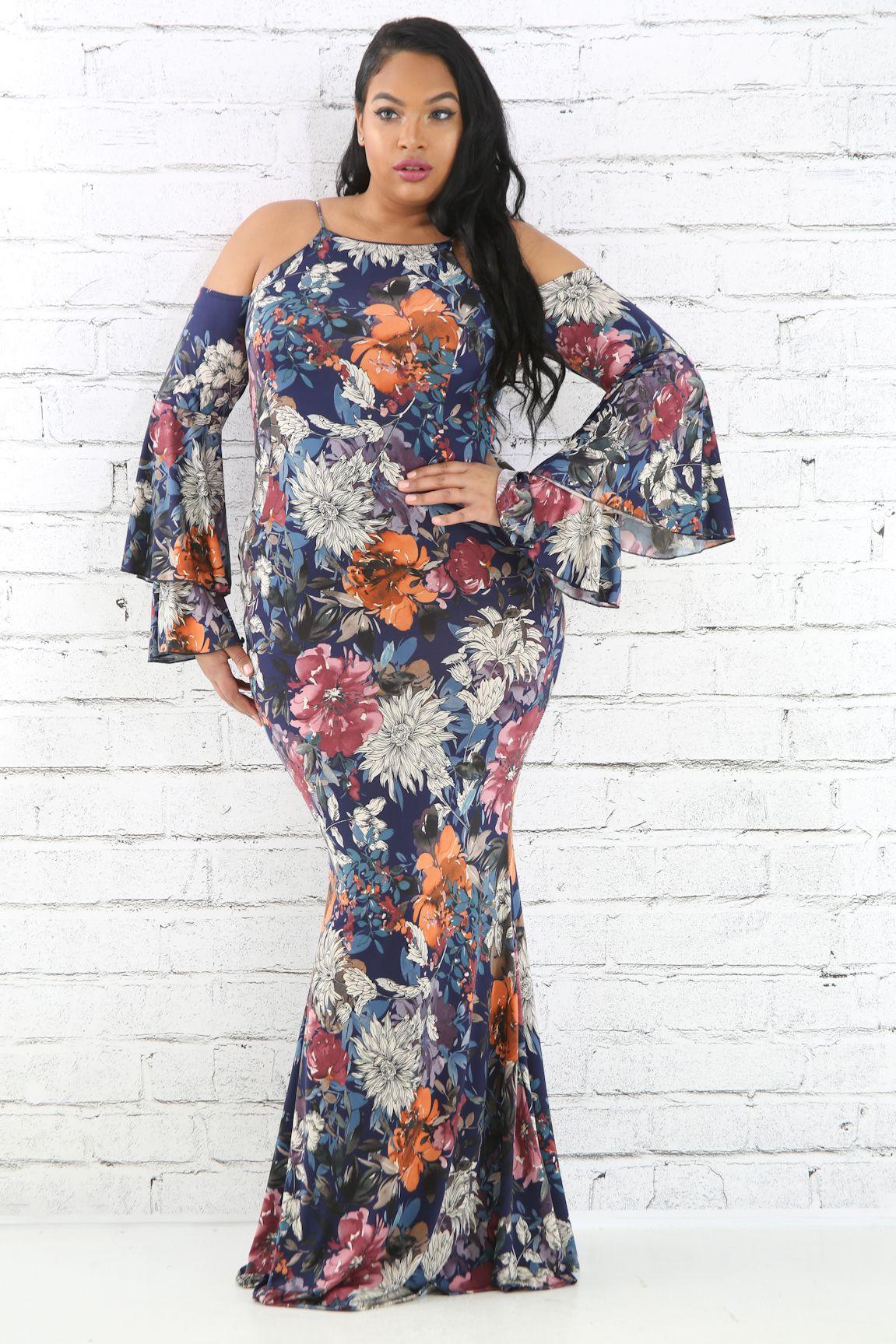 0bfa070ddd0 Multi Floral Flare Maxi Dress