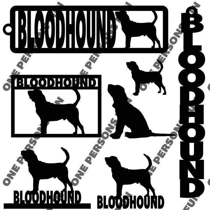 Bloodhound Dog Laser / router / Vinyl cut Set .dfx pdf  and .svg File