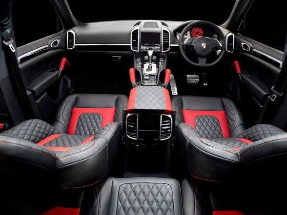 Porsche Cayenne Track Edition Interior With Black And Red Leather Seats Porsche Cayenne Porsche Porsche Cars
