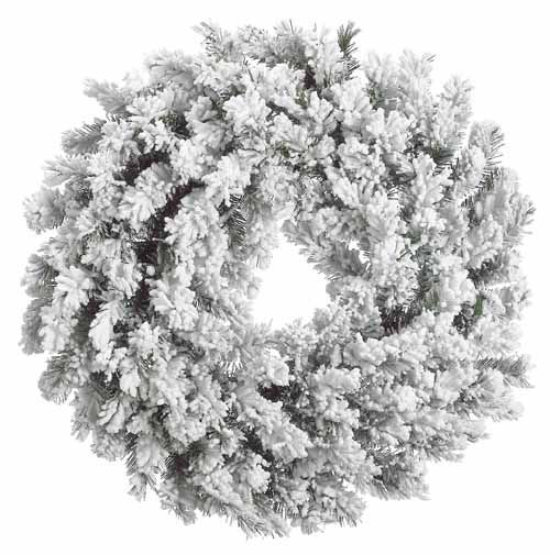 Flocked Christmas Wreaths | ... Snow Pine Heavily Flocked Artificial Christmas Wreath - Unlit