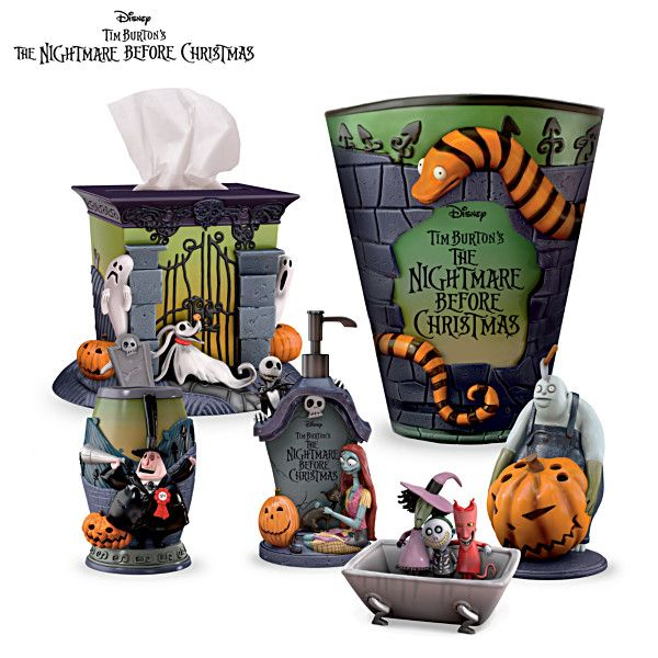 Tim Burton Christmas Carol.The Nightmare Before Christmas Bath Accessories Set