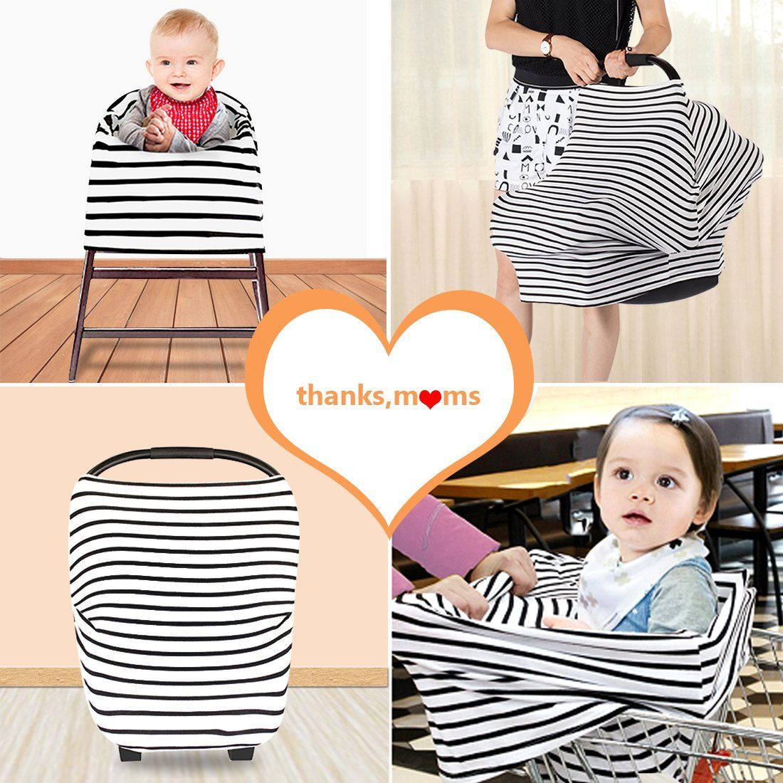 Stretchy Baby Car Seat Cover Canopy Nursing//Breastfeeding Cover Infinity Scarf