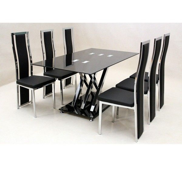 Glass Dining Sets 6 Chairs · Cheap Dining ChairsDining Table ...