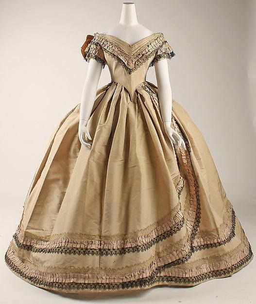 Ball Gown England Ca 1860 1864 Metropolitan Museum Of Art