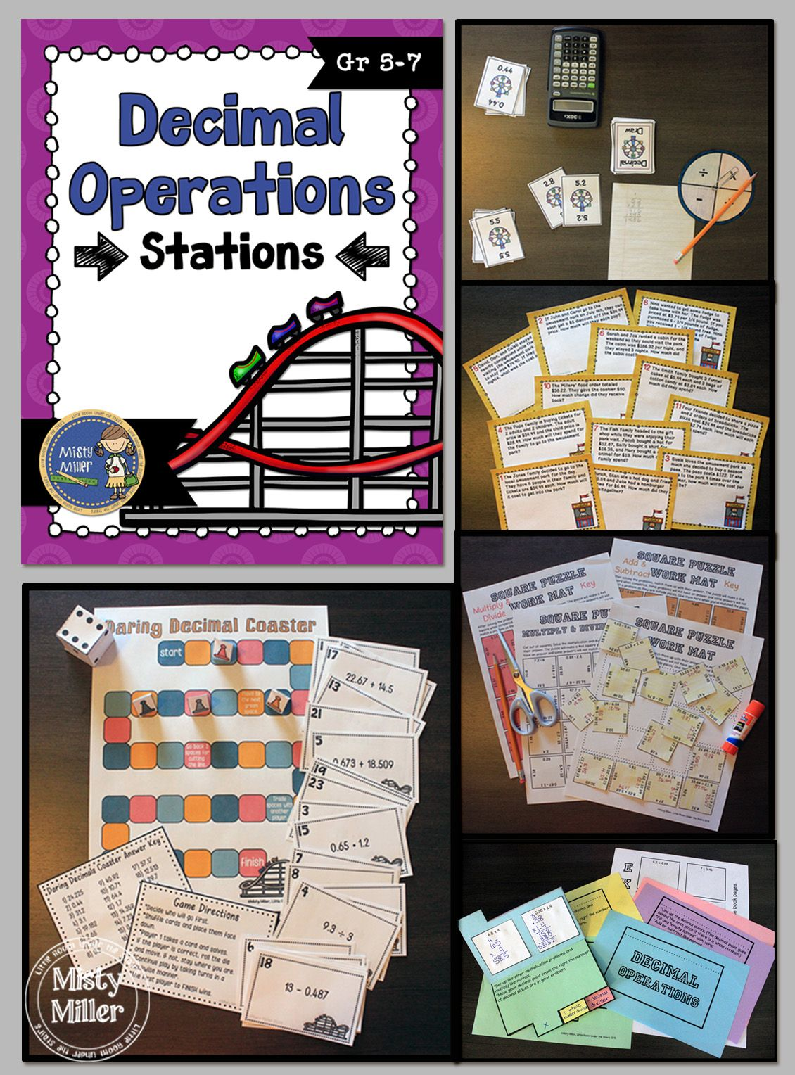 Decimal Operations Math Stations