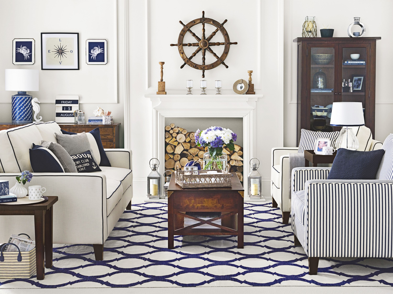 Living Rooms  Coastal living rooms, Nautical living room, Coastal
