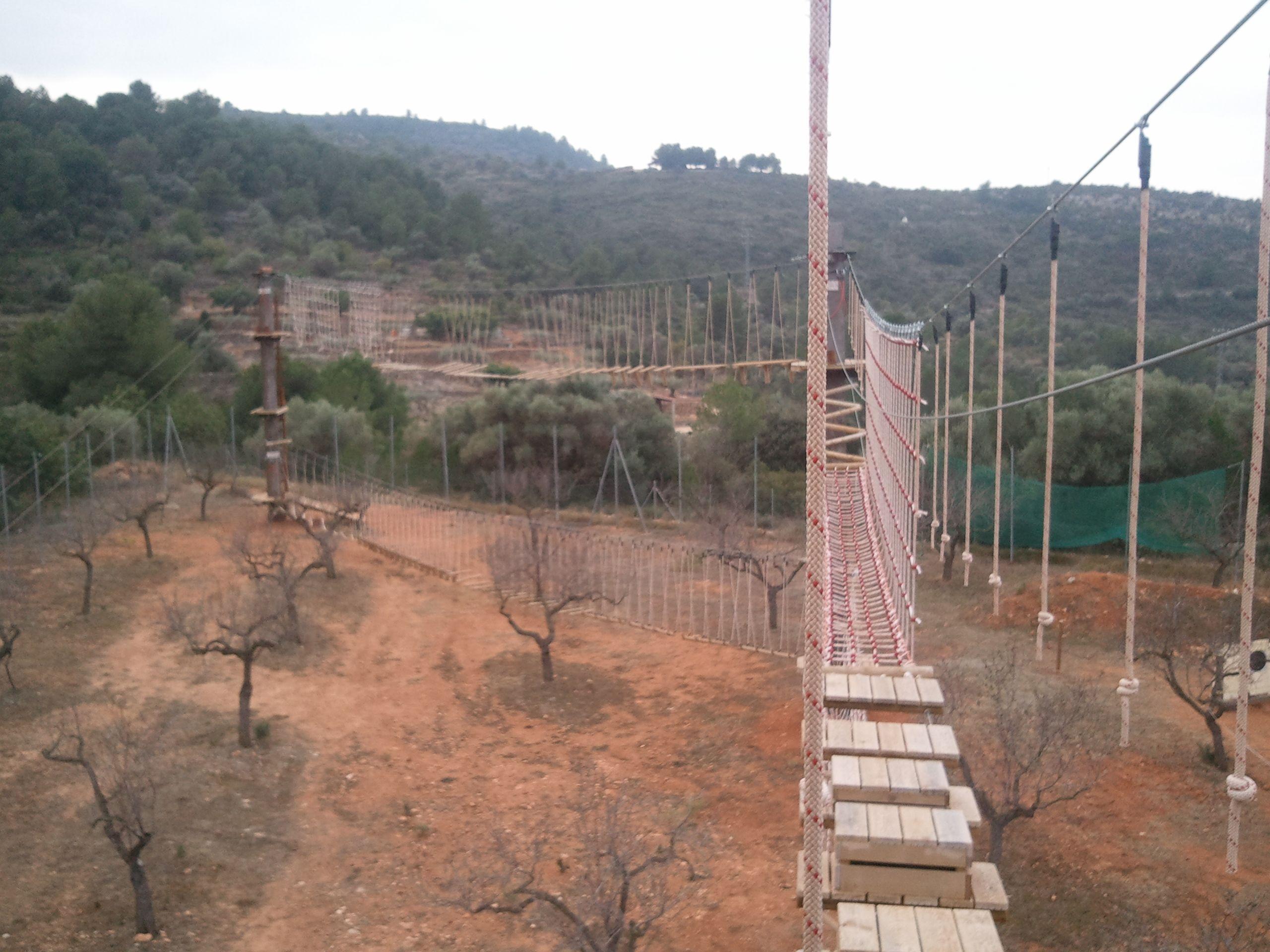 Puentes tibetanos en Temps actiu, Sant Joan de Moró.
