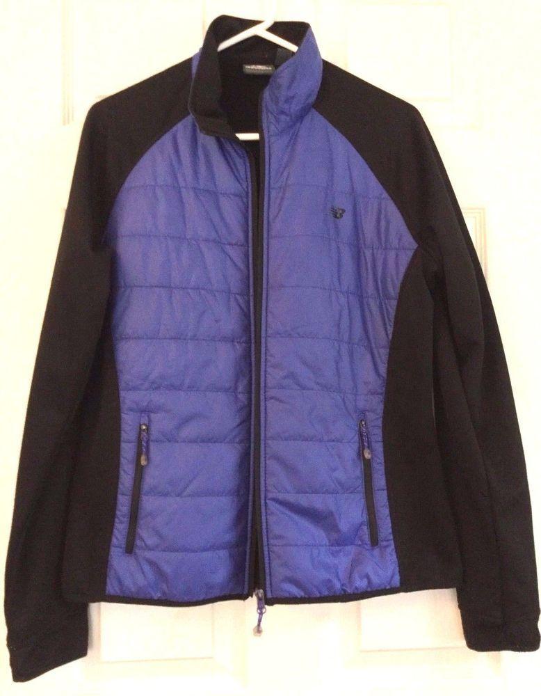 d5b29867ccd93 Natural Reflections Blue Full Zip Collar Fleece Sweater Jacket Women's Size  L | eBay. New Balance ...