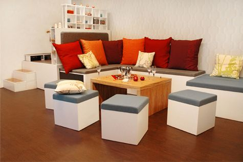 living room sets for small spaces. Room  Colorful Furnature ideas Small Spaces and Sofa by Matroshka