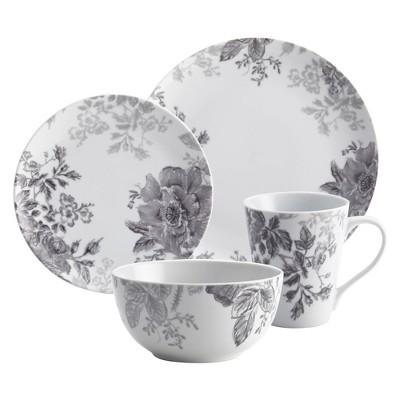 Bonjour 16pc Dinnerware Set Shaded Garden,