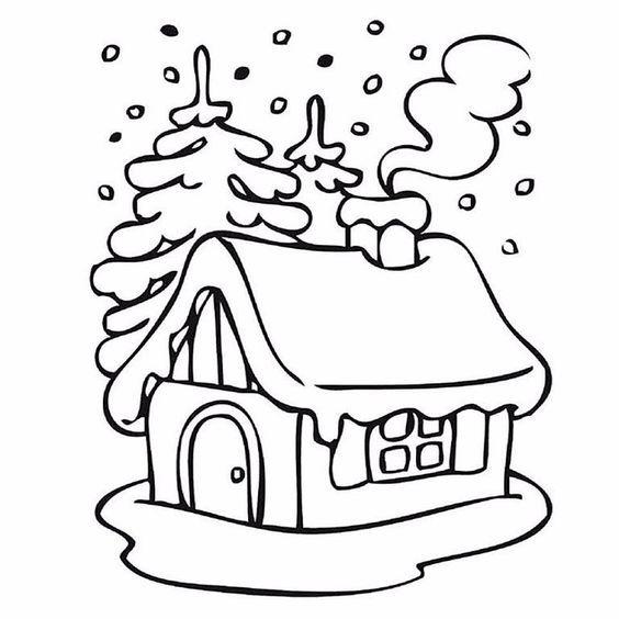 Kış Mevsimi Boyama Sayfaları Kerst Allerlei Pinterest Winter