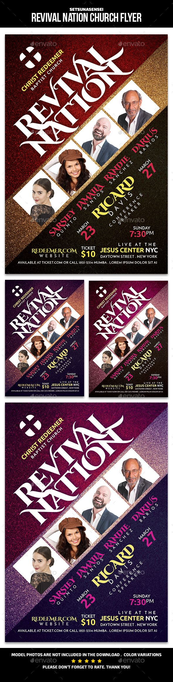 Revival Nation Church Flyer Church Flyers Flyer Pinterest