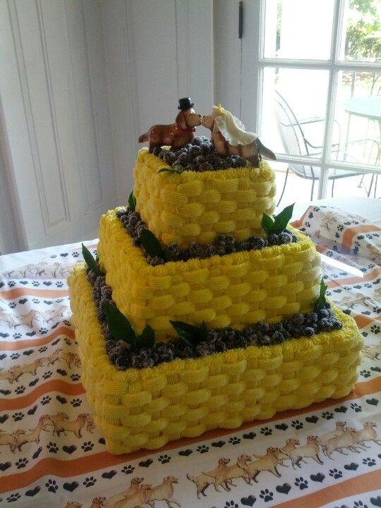 Lemon blueberry grooms cake