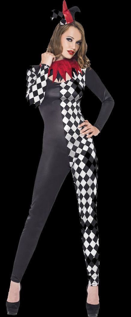 Harlequin Jester Costume, Fever Collection. Festive Harlequin Fête Halloween Party Decorating & Ideas