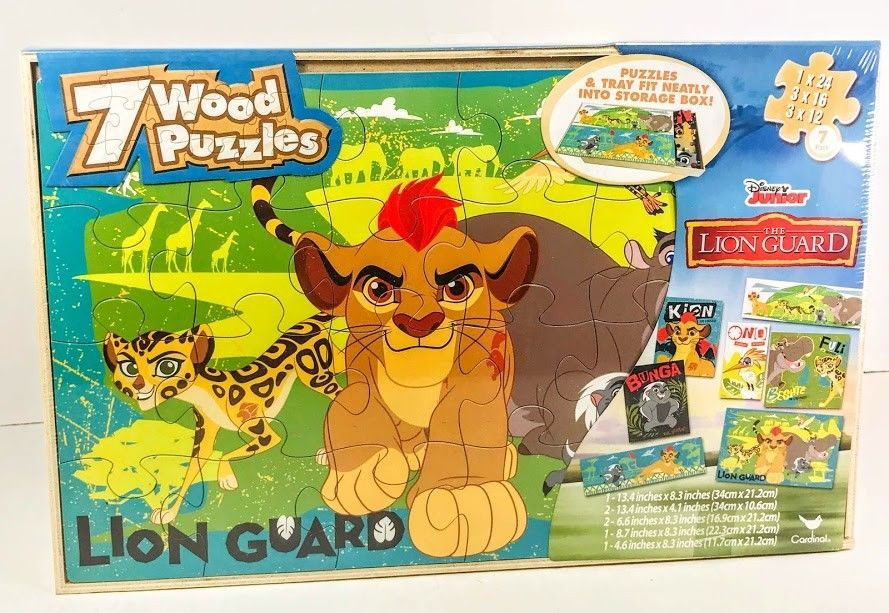 Disney Junior The Lion Guard Jigsaw Puzzle 7 Pack With
