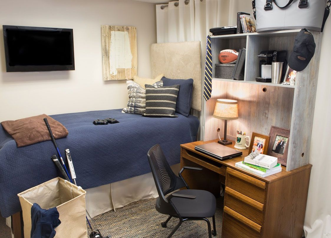 modern bedroom. perfect for a dorm room or college male. | design
