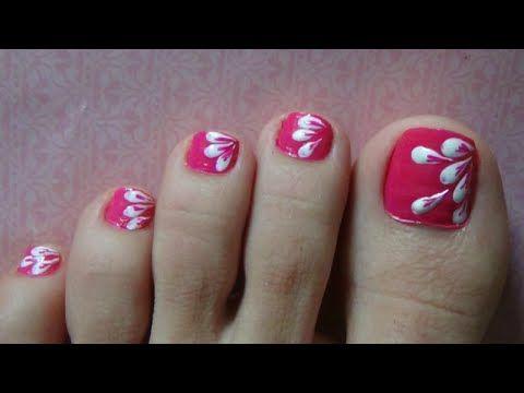 Easy Nail Art For Beginners Simple Cute Flower Nail Art Using
