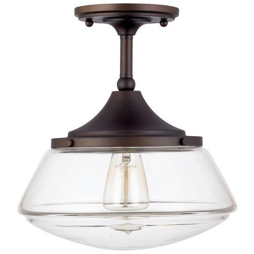 Capital Lighting C3533BB134 Semi Flush Mount Ceiling Light - Burnished Bronze at Ferguson.com