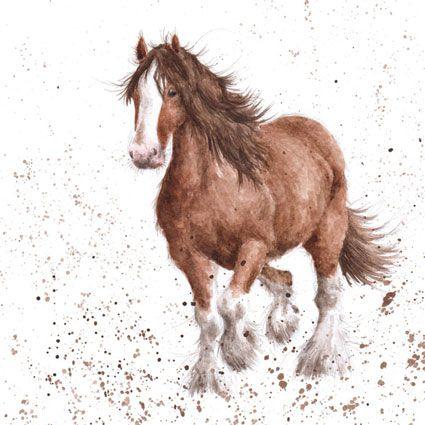 Wrendale Designs Country Set Greeting Card Horse Spirit