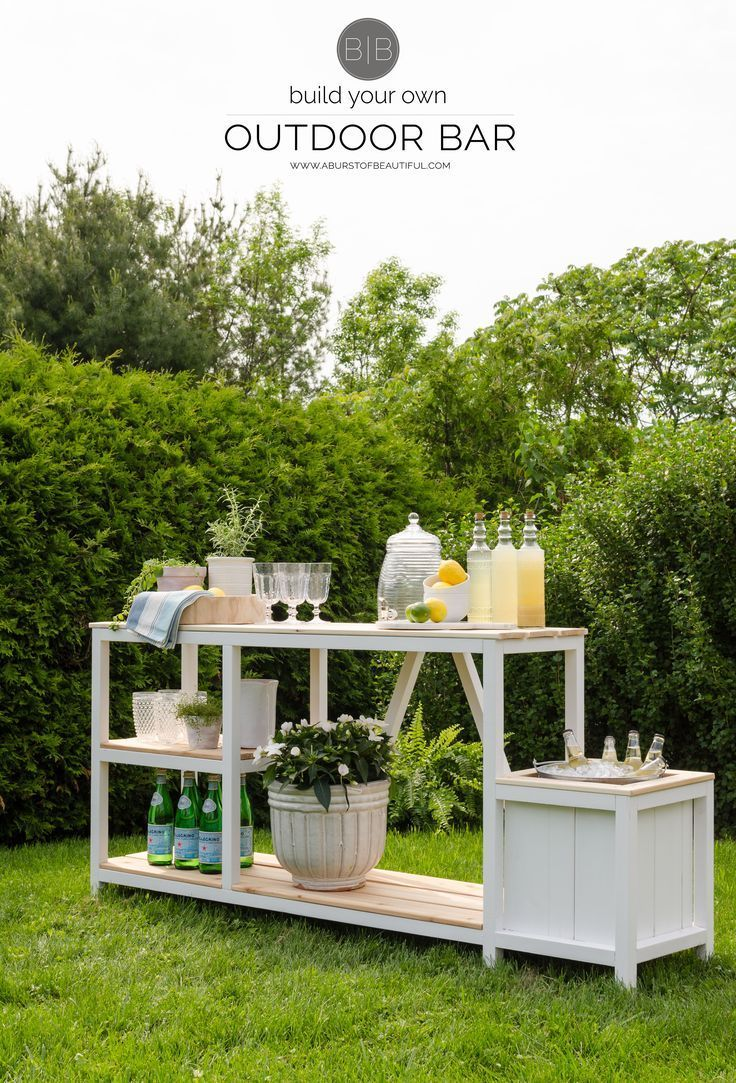 Summer Entertaining + Outdoor Bar. Diy Outdoor BarOutdoor DecorOutdoor  IdeasOutdoor ...