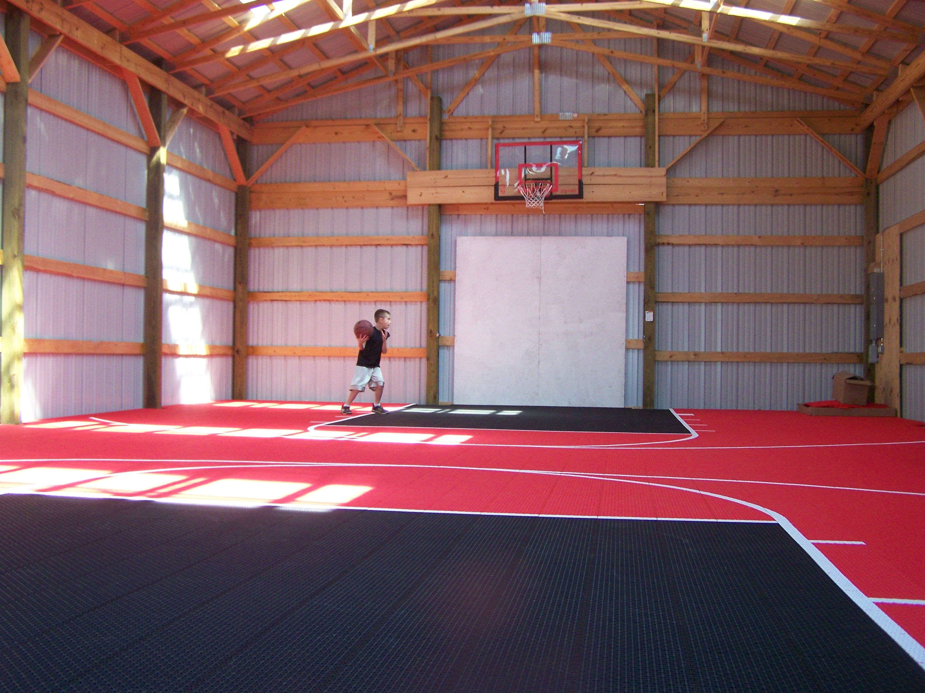 But what would we do with that pole barn oh this for Basketball garage