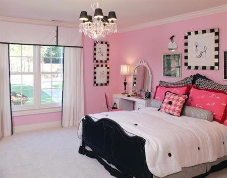 Light Pink Black And White Girl Bedroom Decor Pink Bedroom For Girls Pink Bedrooms