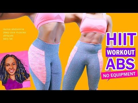 hiit workout abs  10 quick exercises get a flat stomach